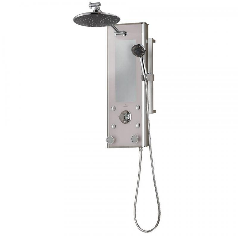 PULSE ShowerSpas Shangri-La Silver Glass Shower System