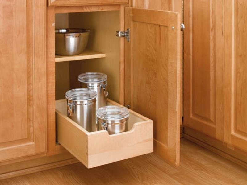 "15"" Base Cabinet Wood Pull-Out Drawer"