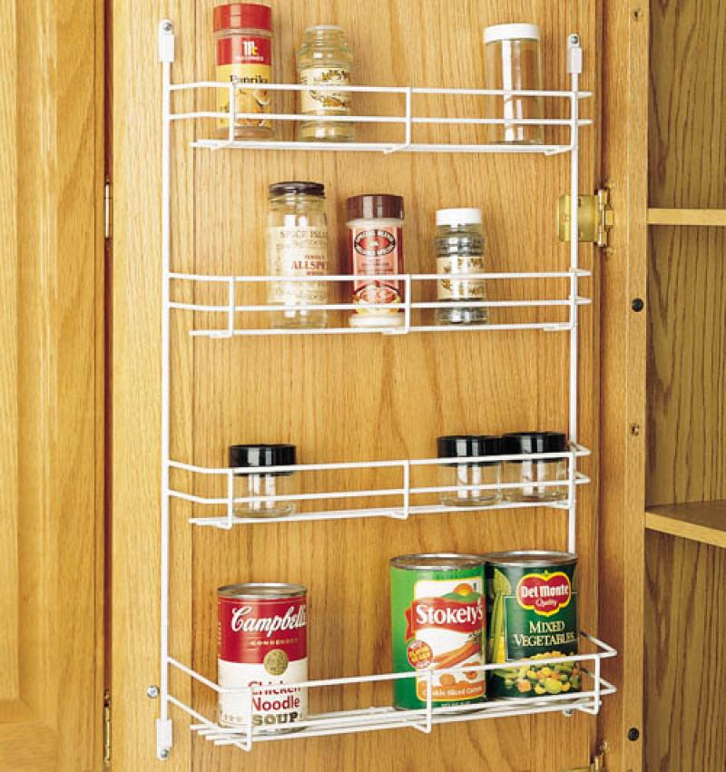 "10"" Wide Door Mounted Wire Spice Rack"