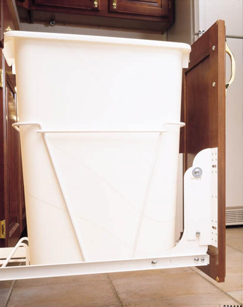 Door Mounting Kit for Pull-Out Waste Containers- White