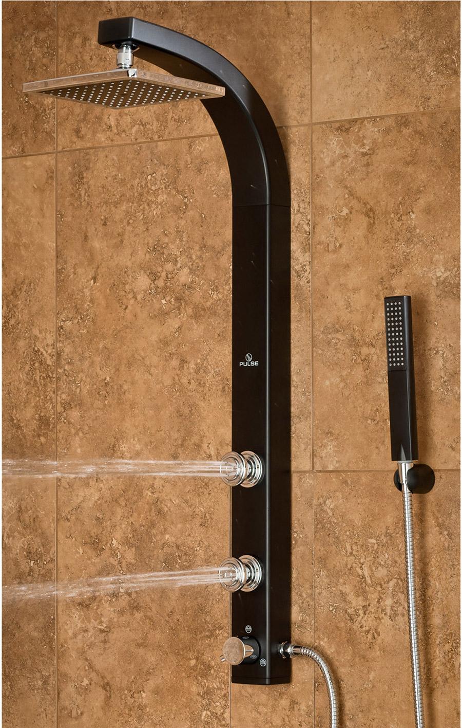Pulse Showerspas Splash Showerspa Black Abs Shower System