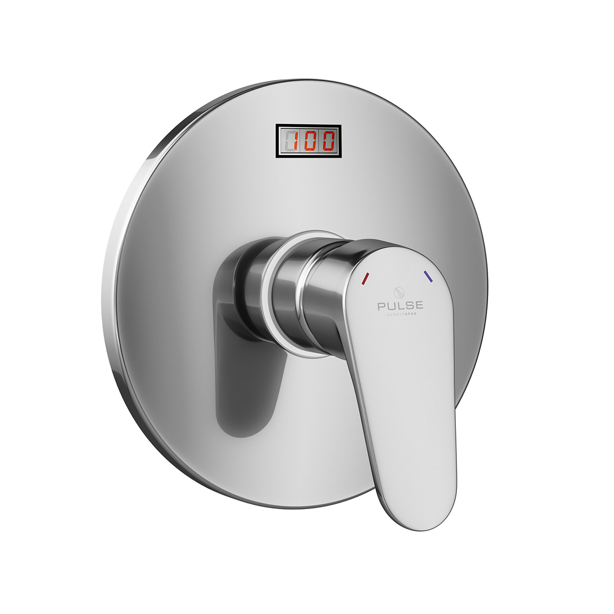 PULSE ShowerSpas LED TruTemp Pressure Balance Valve with Chrome Trim Kit