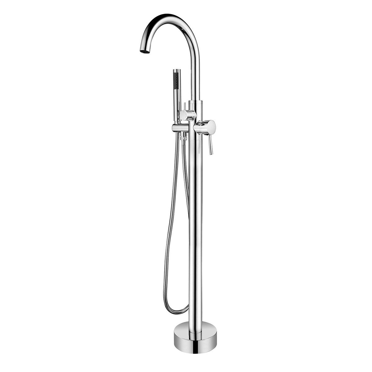 Pulse ShowerSpas Chrome Freestanding Tub Filler with Diverter