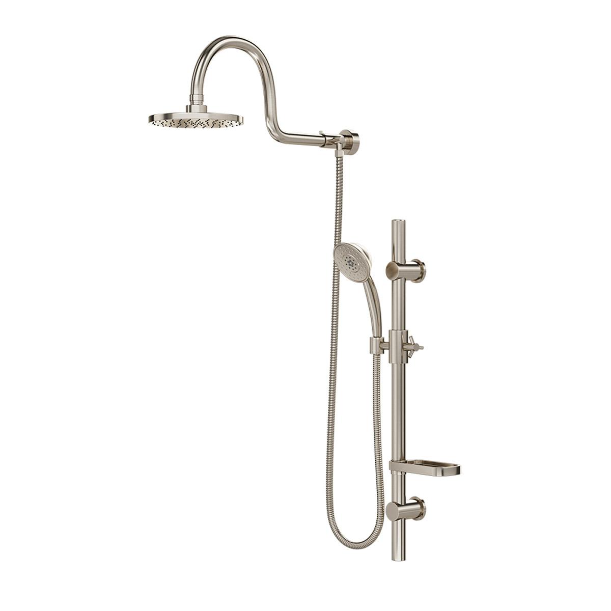 PULSE ShowerSpas Brushed-Nickel Shower System - Aqua Rain Shower System