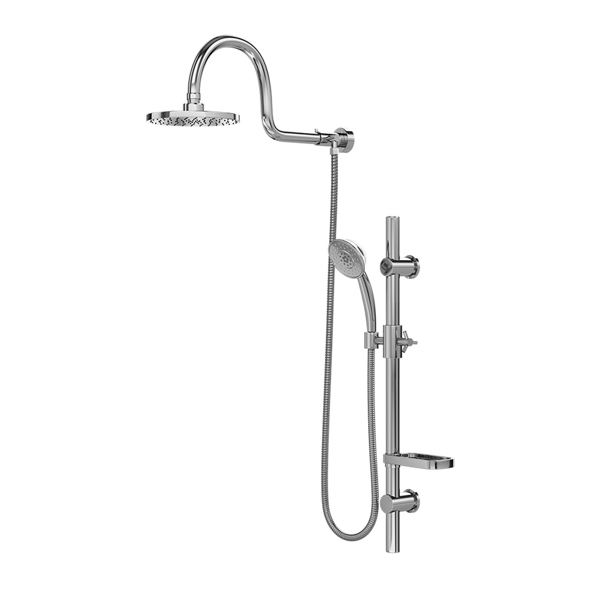 PULSE ShowerSpas Chrome Shower System - Aqua Rain Shower System