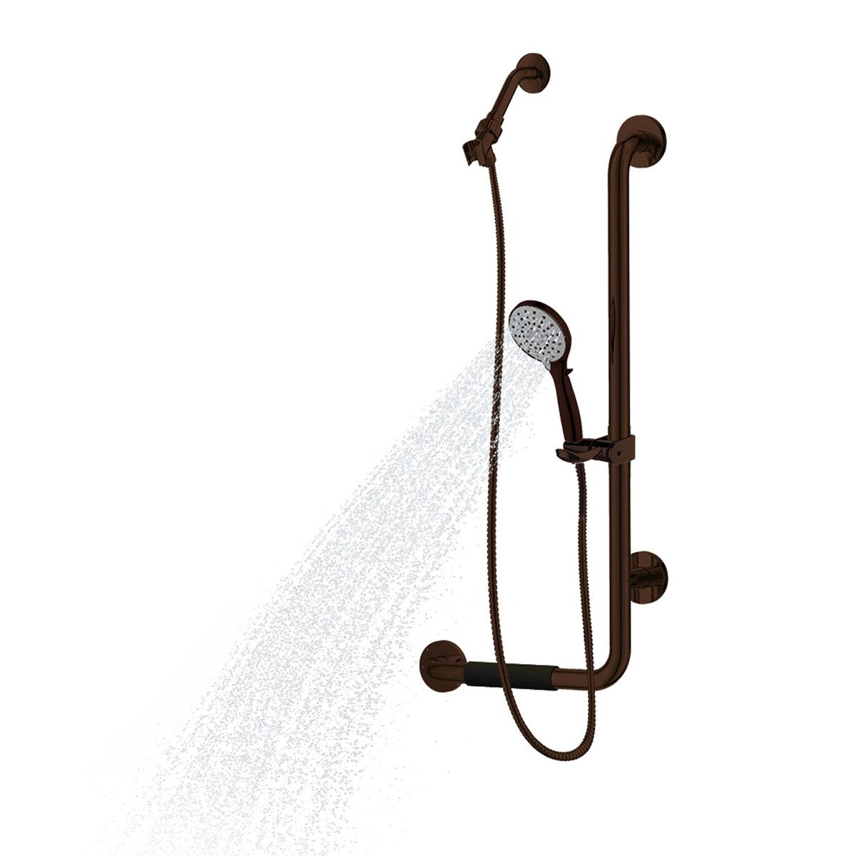PULSE ShowerSpas ErgoSlideBar Oil-Rubbed Bronze - Right