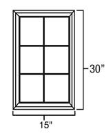 Bainbridge Chocolate Mullion Door for W1530 Model #BC-MD1530  sc 1 st  RTA Cabinet Store & Bainbridge Chocolate Mullion Doors - RTA Cabinet Store