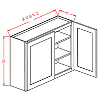 Espresso Shaker Double Door Wall Cabinet