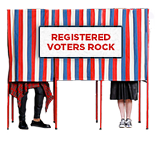 Registered voters rock!