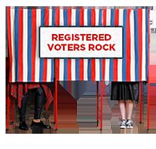 Registered voters rock!