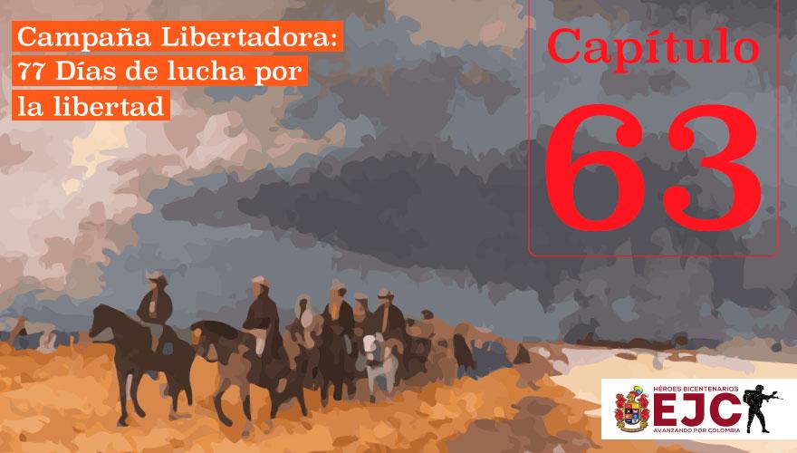 Organización final del ejército patriota para marchar a Vargas