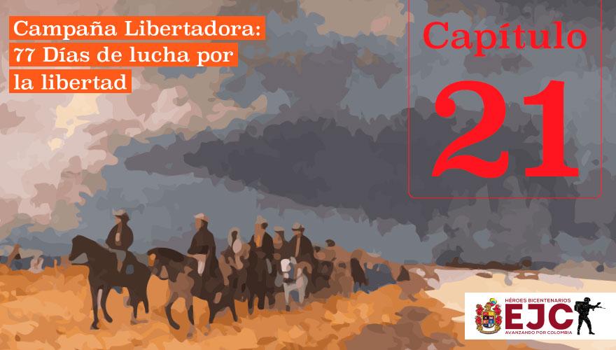 Los Generales Bolívar y Santander reúnen sus tropas en Tame