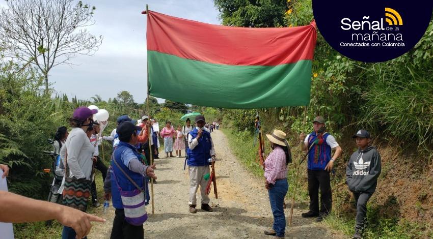 Minga indígena en Cali se prepara para marchar a Bogotá