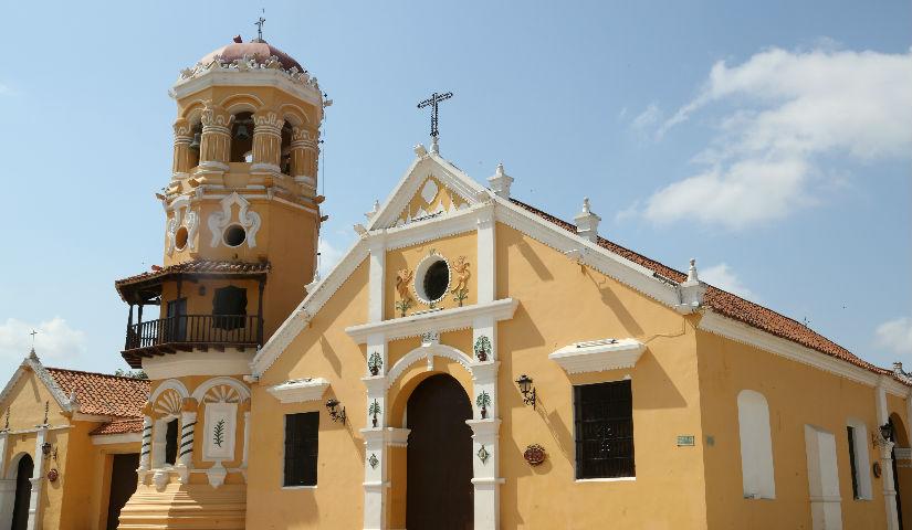 Imagen de la fachada de la Iglesia de Mompox