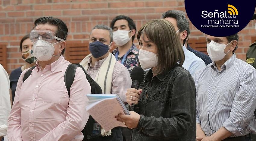 La ministra del Interior da declaraciones tras reunión con la minga