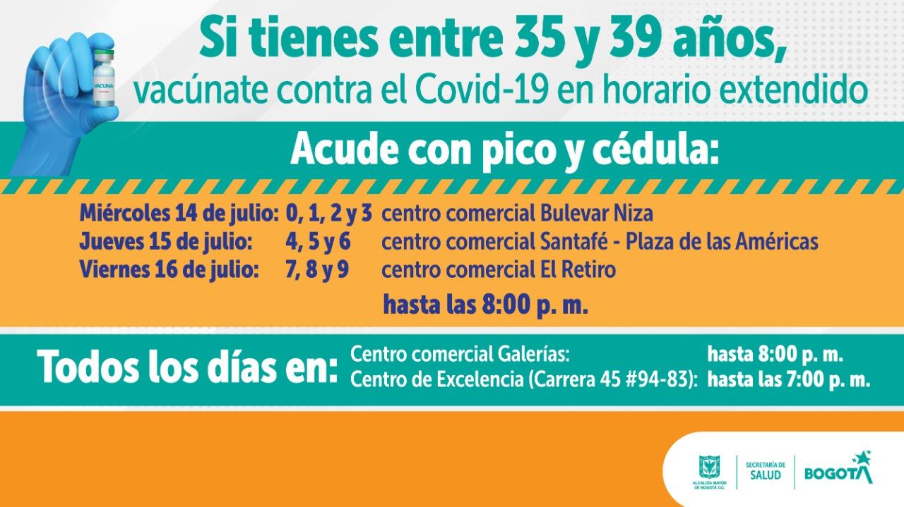horarios extendidos Bogotá