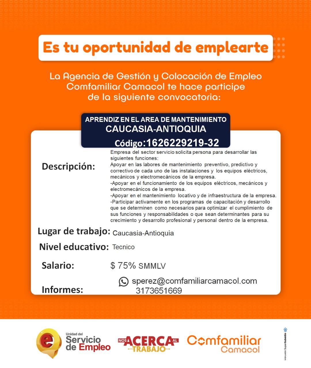 oferta de trabajo en caucasia