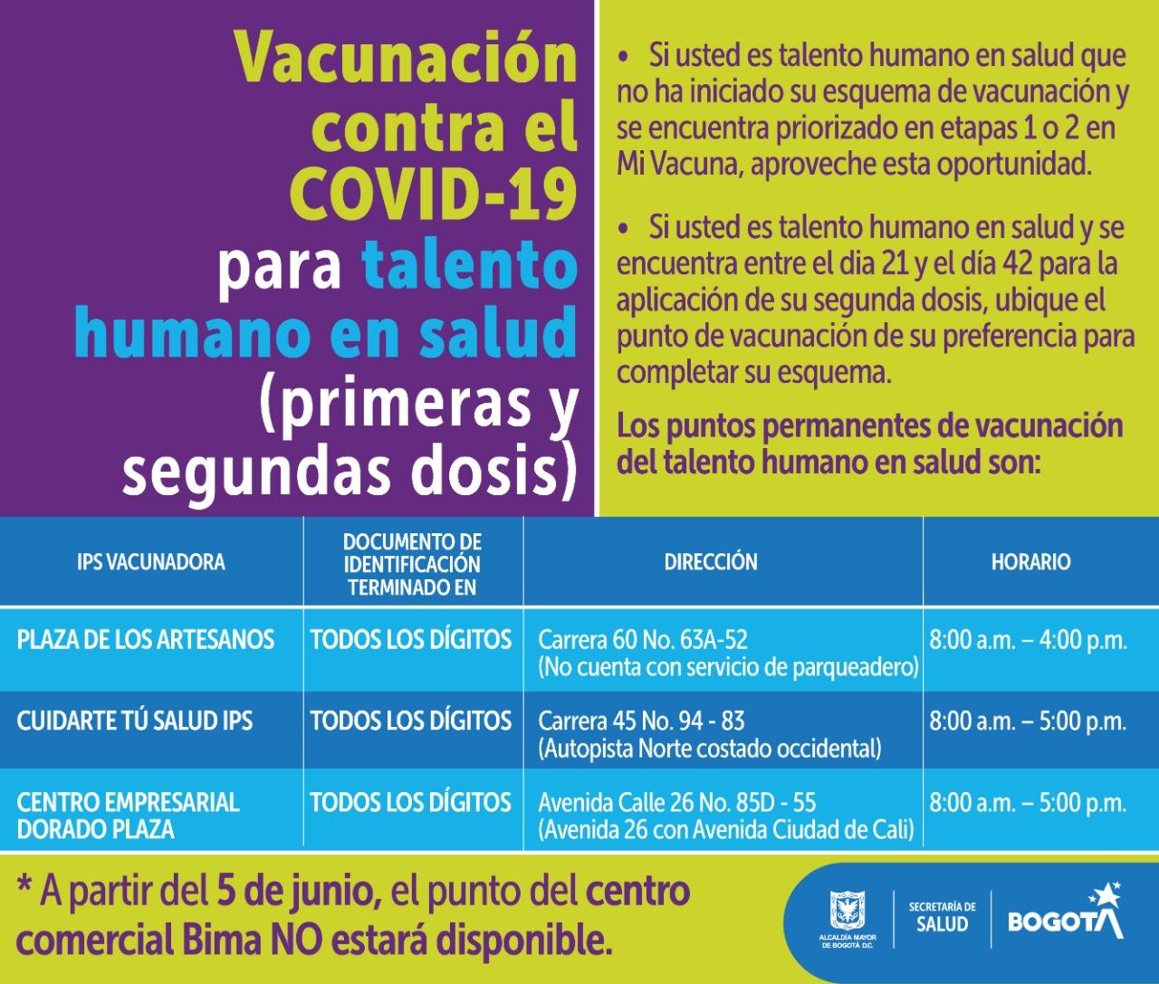 vacunas personal de la salud