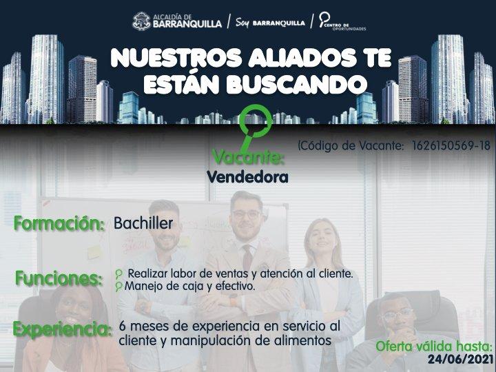 oferta laboral en Barranquilla