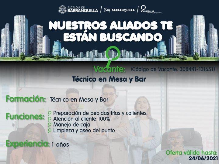 vacante en Barranquilla