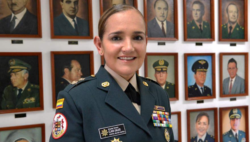 Clara Esperanza Galvis Díaz, Mayor General del Ejército Nacional