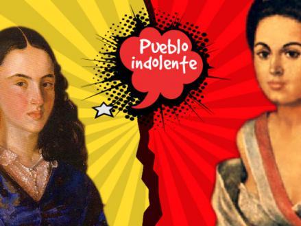 Imagen de las heroínas Policarpa Salavarrieta y Manuela Sáenz