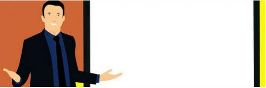 Imagen animada de un hombre frente a un tablero
