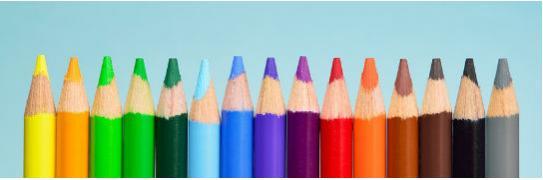Imagen de varios colores apilados en fila
