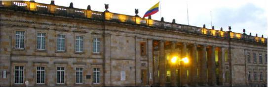 Imagen de la fachada de las instalaciones del Congreso de la República