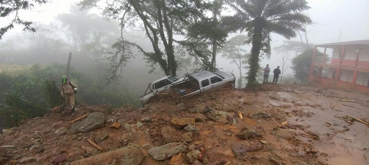 Derrumbe en Valdivia