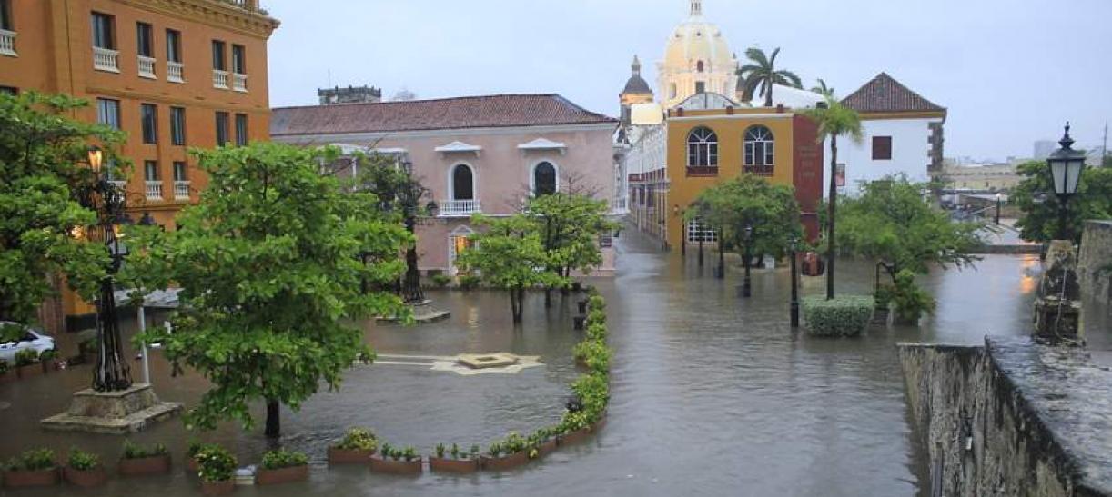 Las lluvias en Cartagena inundaron el centro histórico de la ciudad
