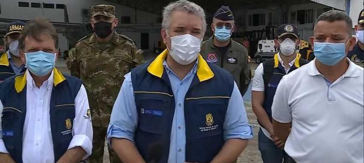 El presidente Iván Duque llegó a San Andrés y Providencia tras el paso devastador del huracán Iota