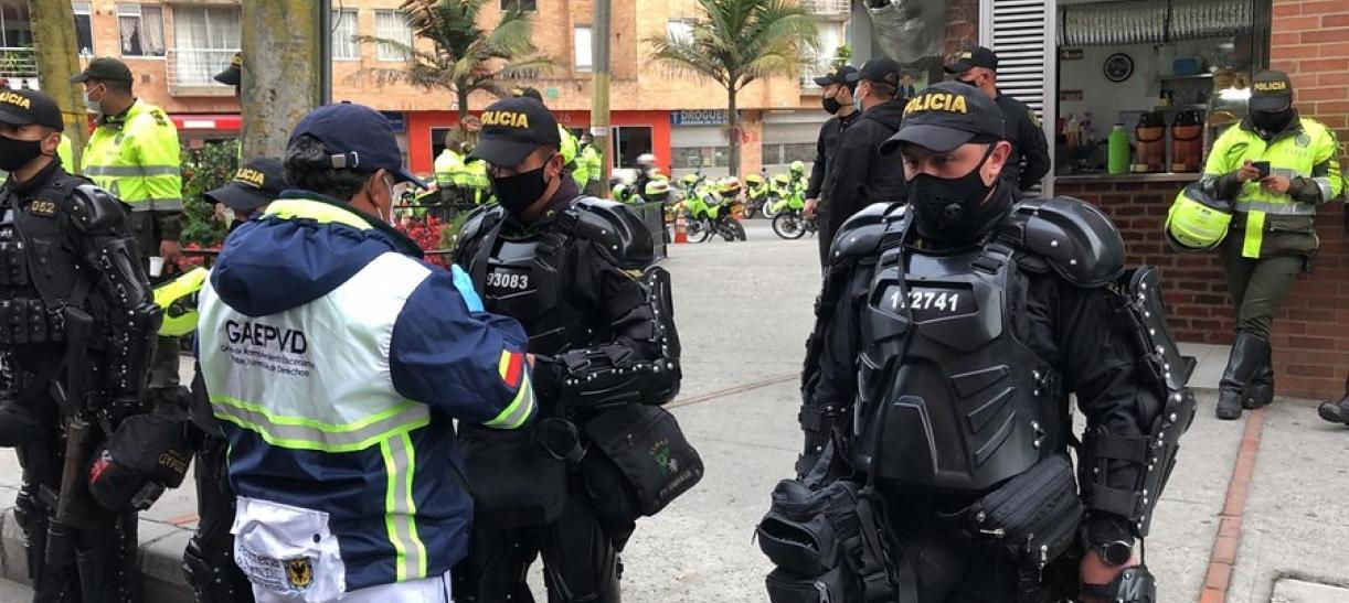 Nuevo protocolo Policía y Esmad