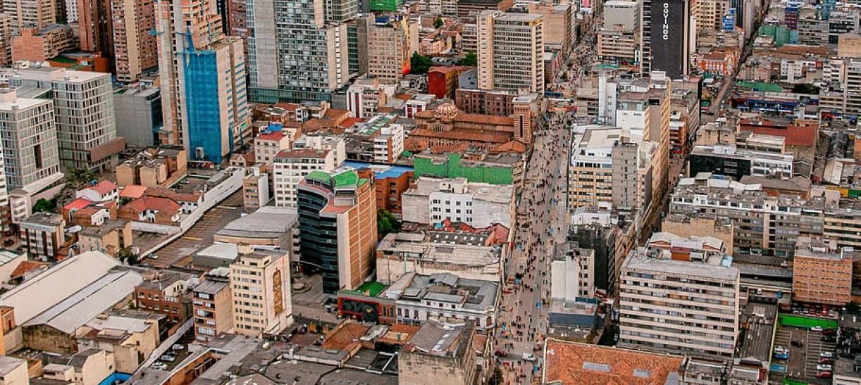 panorámica de Bogotá