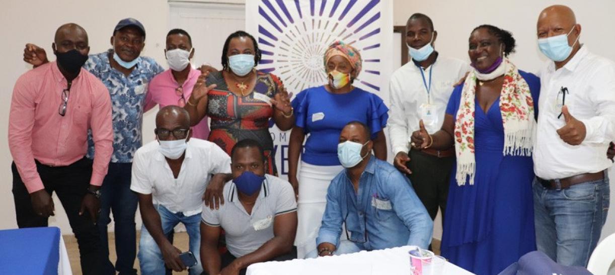grupo de personas afrocolombianas en la comision de la verdad