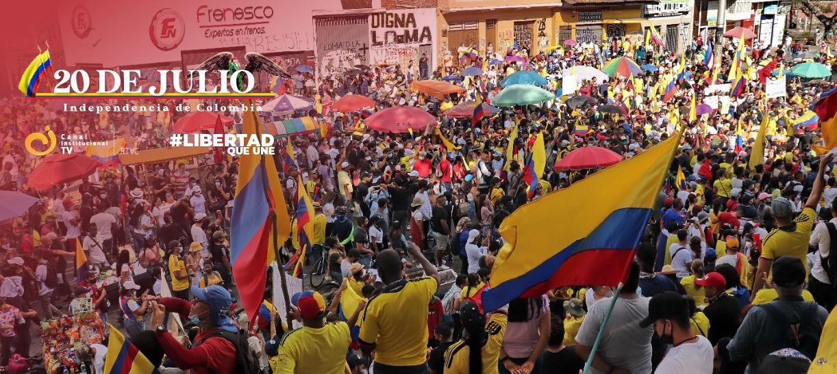manifestaciones en las calles de Colombia