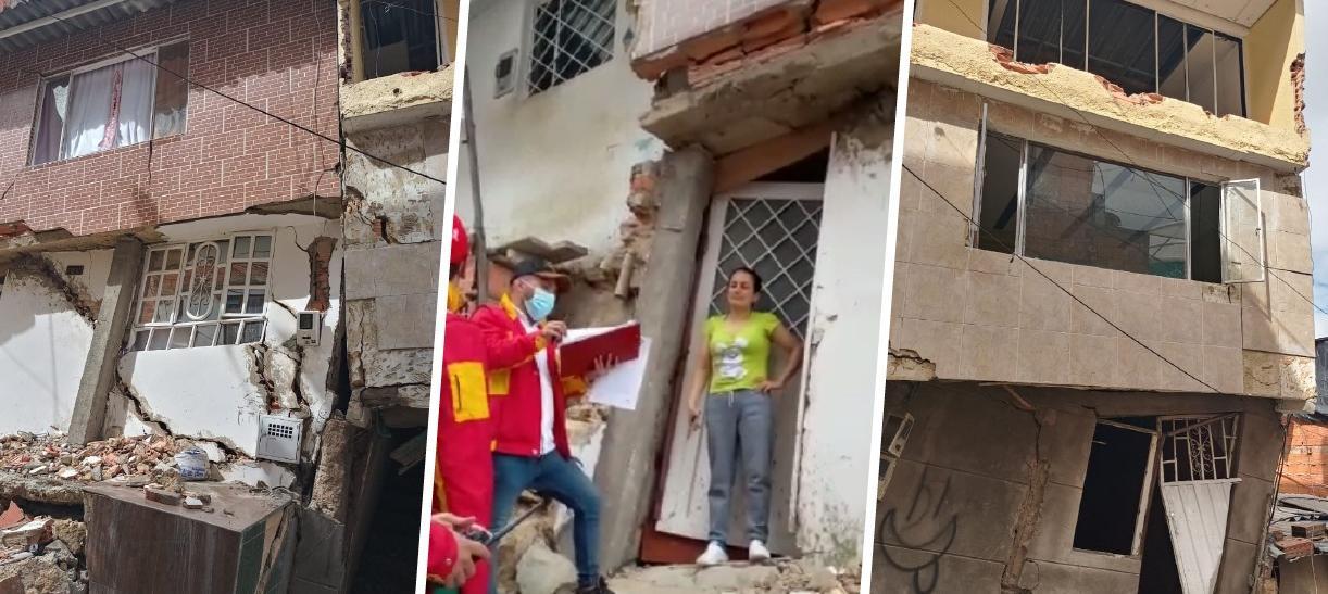 casas en riesgo de colapso e Bogotá