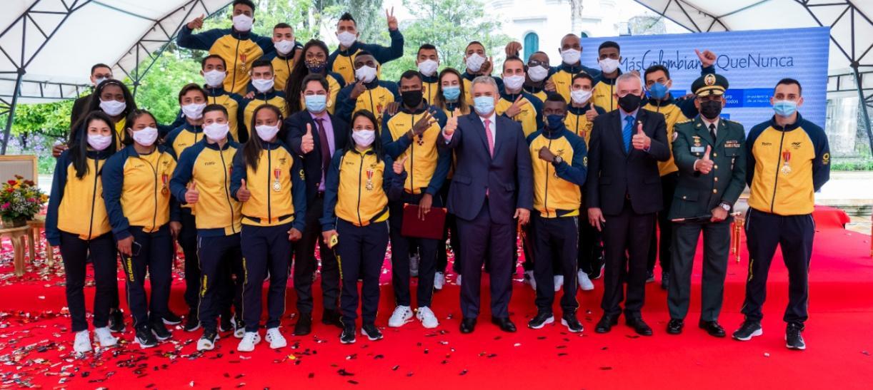 deportistas olimpicos tokio 2020 condecoracion casa de nariño