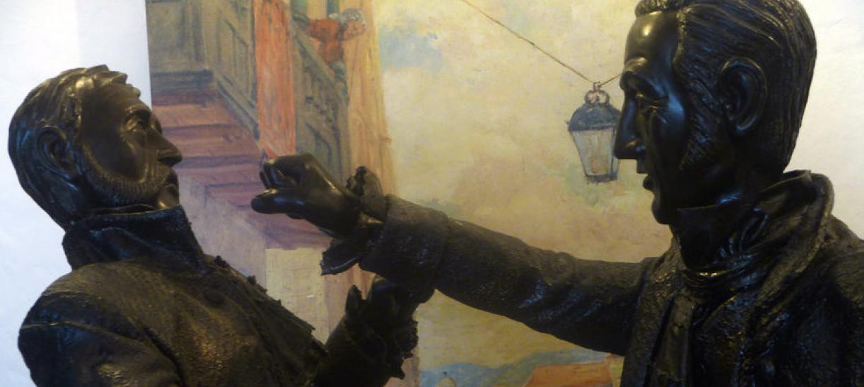 estatua de luis de rubio golpeando a gonzalo llorente el 20 de julio de 1810