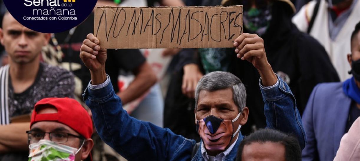 Durante el paro nacional se pidió el fin de las masacres