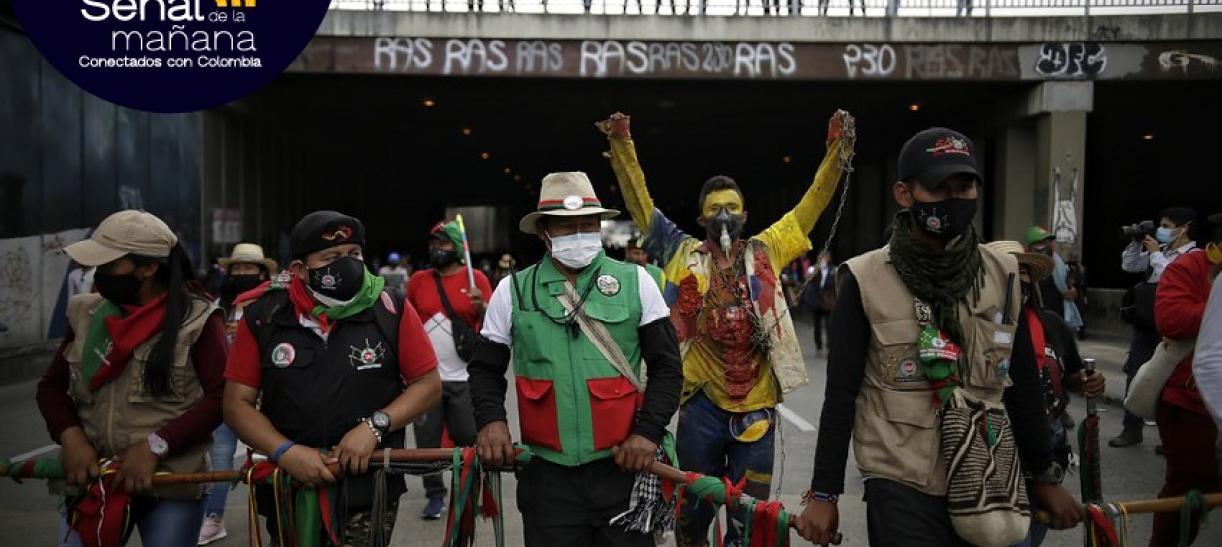 Así marchó la minga indígena en Bogotá