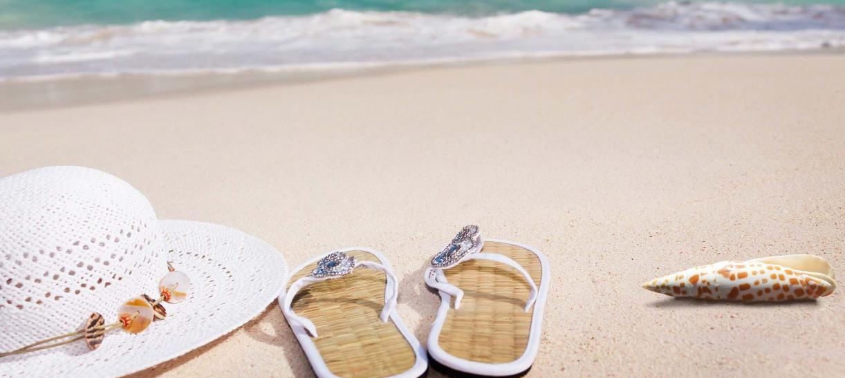 Imagen de playa, vacaciones, fin de ano