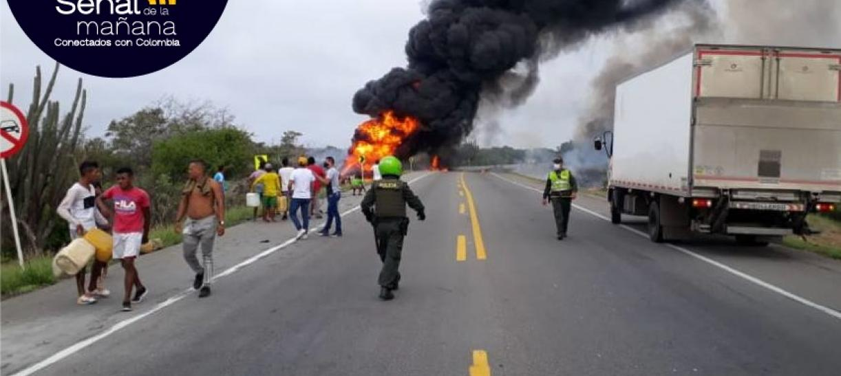 explosion camion cisterna