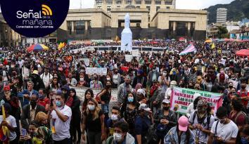 Este 21 de octubre se implementó por primera vez el nuevo protocolo de manifestaciones en Colombia