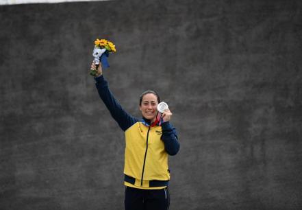Mariana Pajón obtiene medalla de plata en Tokio 2020