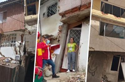 El drama de familias que deben dejar sus casas por riesgo de colapso en Bogotá