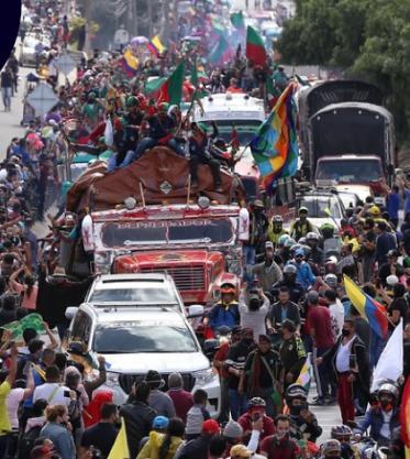 Las razones de la minga para llegar a Bogotá