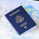 pasaporte visa americana sobre mapa pedir cita paso a paso
