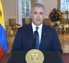 Presidente Duque anuncia espacio de diálogo contra la violencia