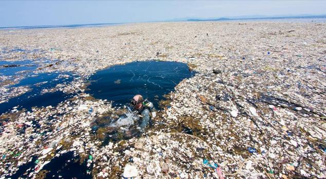 Isla de basura en el Pacífico